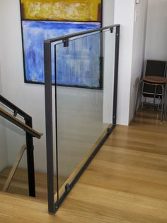 KW to KW: 522 Industries - When it comes time for metalwork, think about using these guys. Glass Handrail, Stair Handrail, Glass Balustrade, Staircase Railings, Patio Railing, Stair Railing Design, Glass Balcony, Interior Stairs, House Stairs