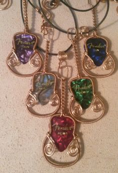 Made to Order Copper and Guitar Pick Guitar by CPaulDesigns