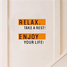seinä tarroja seinätarrat, moderni nauttia elämästä persoonallisuus englanti pvc seinä tarroja – EUR € 20.90