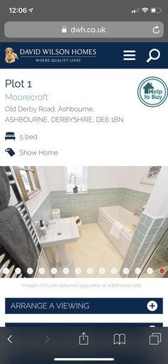 David Wilson Homes, Derbyshire, Bathroom, Washroom, Full Bath, Bath, Bathrooms