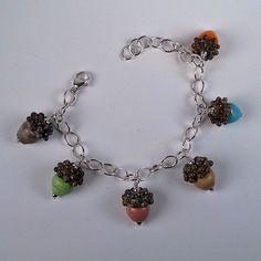 6 acorn bracelet from Raleigh artist Lori Flanders. via Etsy.