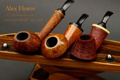 These beautiful Florov pipes and Neal Yarm pipe stands.