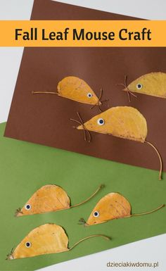 fall leaf mouse craft for kids                                                                                                                                                                                 More