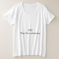 DIY Plus Size T-Shirt - white gifts elegant diy gift ideas Nana Gifts, Customized Gifts, Custom Gifts, Plus Size T Shirts, Trending Now, T Shirt Diy, Diy Gifts, T Shirts For Women, Creative