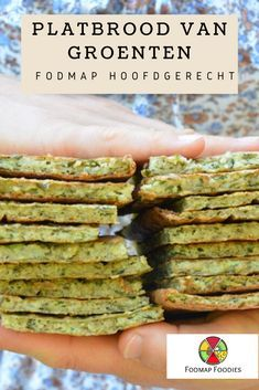 Platbrood van groenten One of the favorite low-FODMAP recipes: flat bread with various vegetables, s Clean Recipes, Healthy Recipes, Vegetarian Recepies, Pureed Food Recipes, Fodmap Recipes, Healthy Cooking, Food Inspiration, Good Food, Food And Drink