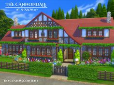 The Cannondale is a family home built on a 40 x 30 lot in Windenburg on The Summer Home Lot.  Found in TSR Category 'Sims 4 Residential Lots'