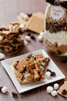 S'more Campfire Bars and Desserts in Jars by Food for My Family {giveaway}