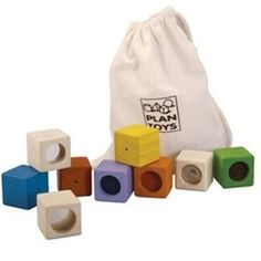 Oooooh, so much fun sensory stuff! Visual, tactile, and auditory, these blocks are fun and soothing for all.