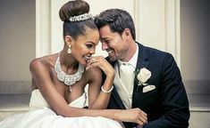 Gorgeous interracial couple looking spectacular on their wedding day #love #wmbw #bwwm
