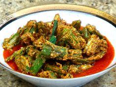 Okra bhindi tomato curry