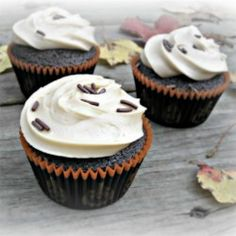 Chocolate Cupcakes with Caramel Frosting - Allrecipes.com I doubled the cocoa powder and replaced the mayo with veganaise...turned out really moist and delicious!