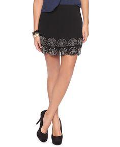 Embellished Scallop Hem Skirt | FOREVER21 - 2002929434