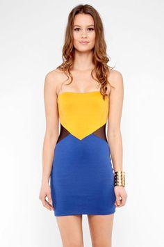 Blocked Ponti Dress in Royal $26 at www.tobi.com ... formal?