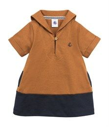 Abito bebé bambina in jersey strutturato colorblock