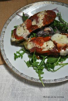 Pizza en berenjena - eggplant pizza