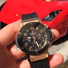 Still one of the classics 44mm 2013 Hublot Big Bang in rose gold on an old Muirci. Pic | @crmjewelers by wristgamers #panerai