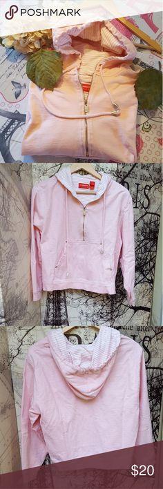 Liz Calborne pink hoddie Half zipper hoddie Front 19 Back 21 Shoulder 18 Chest 23 Sleeves 21  Bundle with your favorite Jeans and save 🤗 Liz Claiborne Tops Sweatshirts & Hoodies
