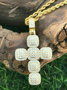 Details about  /1.10 Ct VVS1 Diamond Cross Pendant 14k White Gold Christmas Gift Women/'s /& Men/'s