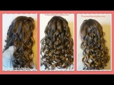 How To Create Beautiful Curling Wand Curls - YouTube