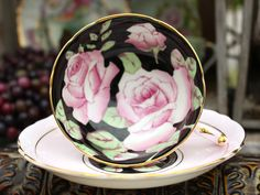 Stunning Paragon Double Warrant - Vintage Teacups - Cabinet Tea Cup and Saucer 11837 by TheVintageTeacup, $165.00 USD #zibbet