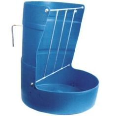 """Abetta Half Barrel Feeder by Abetta. $58.49. Abetta(R) Half Barrel Feeder High density poly feeder with welded steel hay rack. Hanger back allows to be hung over a wooden fence or a pipe corral panel. Remove the bracket and this feeder can be permanently mounted to the wall by bolting through the same holes the bracket mounts from. (Bolts not included.) Colors may vary. Size: 28"""" x 23""""; 3/8"""" thick. Save 10% Off!"""