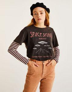 :Shirt mit Print vorne