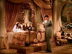 Scarlett O'Hara and Rhett Butler at Bonnie's birth in Gone With the Wind Go To Movies, Great Movies, Golden Age Of Hollywood, Classic Hollywood, Wind Movie, Rhett Butler, Romance Film, Tomorrow Is Another Day, Scarlett O'hara