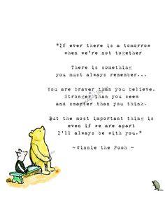 Winnie the Pooh Wedding Quotes, Pooh Baby quotes, New born baby print,  Pooh Bear Nursery Decor, Winnie the Pooh friendship
