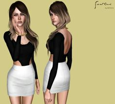 My Sims  Blog Prep School Separated Uni Top For Af By Pickypik Sims  Pinterest Sims  Sims And Sims