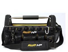 AWP HP Ballistic Nylon Tool Bag Steel Handle with Comfort Grip Dual Straps-Black #AWP