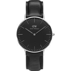 Daniel Wellington Classic Black Sheffield Watch | Silver 36mm Daniel Wellington Classic, Watches For Men, Men's Watches, Quartz Watch, Leather Men, Clock, Too Thin, Luxury, Unisex