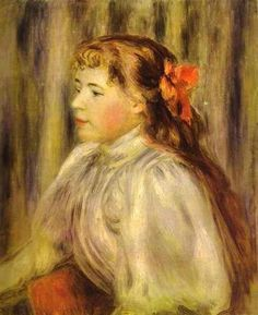 Portrait of a Girl - Pierre-Auguste Renoir
