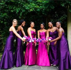 Gorgeous combination - Fuchsia and Purple flowers by The Perfect Creation; Kelly Lane Photography