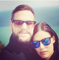 104fafec5fa Super Model Bianca Balti takes a selfie with her man wearing Spektre  SUnglasses Memento Audere Semper Tortoise frames w  Blue Mirrored lens