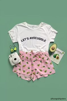 Product Name:Let's Avocuddle Graphic Pajama Set, Category:promo-best-sellers-app, Price:14.9