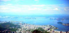 Rio de Janeiro - Brasil - Praia de Botafogo, Praia do Flamengo, Enseada da Glória e do outro lado Niterói.