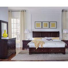 Carlisle 5-piece Queen Storage Bedroom Set | Bedroom | Pinterest ...