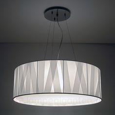 Den hvide designerlampe Cross Lines, 60 cm