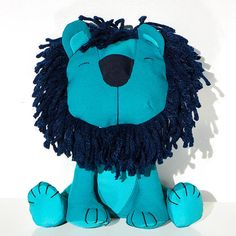 Blue sky toy Lion or cat Wilfrid. Adorable friendly blue turquoise stuffed toy lion is great gift for teens, children or adults! Height - 25cm. 250SEK / 30$