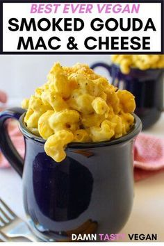 Best vegan smoked gouda mac and cheese. Easy to make with easy to find ingredients. Healthy and delicious. Creamy vegan mac and cheese. Perfect weeknight dinner. #dairyfree #vegan #macandcheese #easymeal Vegan Cheese Recipes, Vegetarian Pasta Recipes, Vegan Recipes Beginner, Vegan Mac And Cheese, Vegan Dinner Recipes, Delicious Vegan Recipes, Dairy Free Recipes, Easy Healthy Recipes, Whole Food Recipes
