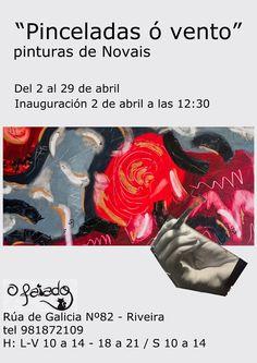 Exposición que se inaugura en Riveira el día 2 a las 12/30 de la mañana,pasate a visitarla es muy creativa.