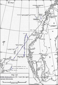 German and British naval movements from 7–9 April - This Day in History:  Apr 9, 1940: Germany invades Norway and Denmark in Operation Weserübung http://dingeengoete.blogspot.com/