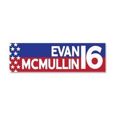 Evan McMullin 16 Car Magnet 10 x 3 on CafePress.com