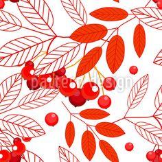 Autumnal Mountain Ash Design Pattern Design Pattern by Elena Alimpieva at patterndesigns.com