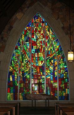 Callaway Gardens Chapel Altar Window ...the chapel is made of cut stones