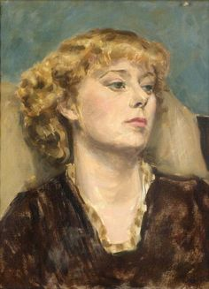 untitled picture by Anthony Devas (1911-1958), British portrait painter associated with the Euston Road School which emphasised naturalism and realism, in contrast to the various schools of avant-garde art then prevalent.Many of the members were on the political left, and naturalism was seen as an attempt to make art more relevant and understandable to non-specialists and members of the public (invaluable - wiki)