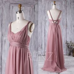 2016 Dusty Rose Bridesmaid Dress Sweetheart Illusion by RenzRags