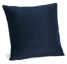 Blue velvet pillow.