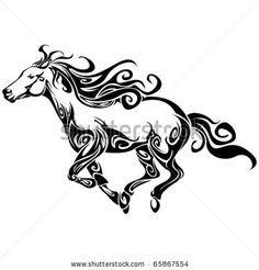 celtic horse tattoo | Horse Tattoo Stock Photos, Illustrations, and Vector Art