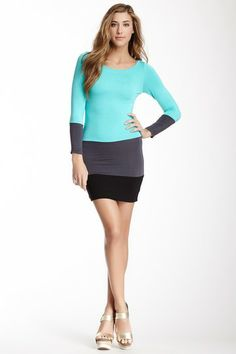 Colorblock Panel Knit Dress by American Twist on @HauteLook